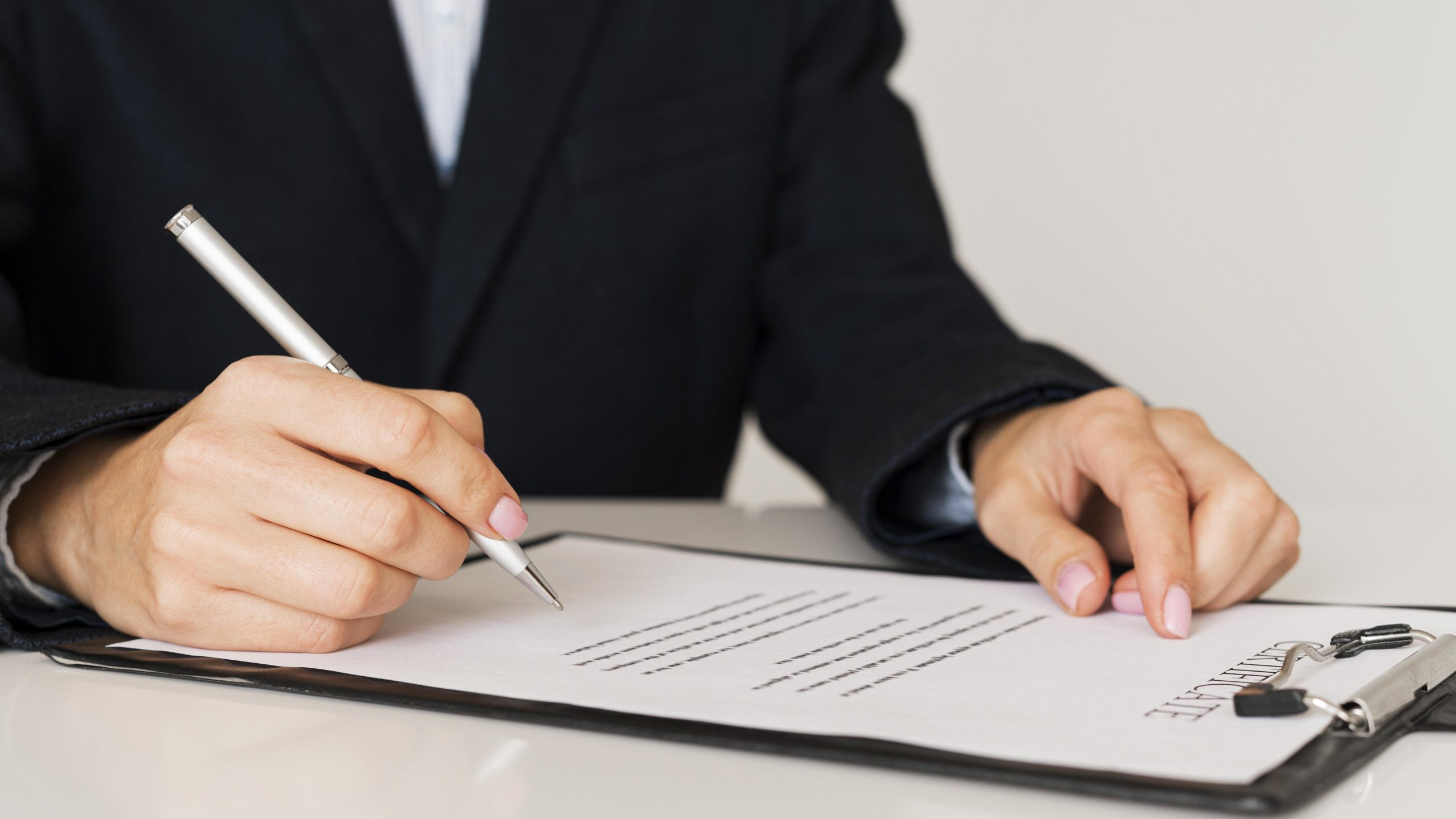 person signing certificate